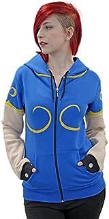 Street Fighter Official Chun Li Hoodie (Small) Blue