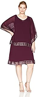 S.L. Fashions Women's Plus Size Cape Dress