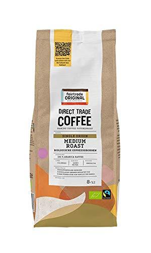 Bio Espressobohnen (500 g)   Direct Trade Coffee   von Fairtrade Original   ganze Kaffeebohnen   Bio und fair trade zertifizierte Kaffee Bohnen   Kaffee aus Kolumbien   100 % Arabica Bohnen