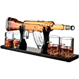 SHUANGHUI AA Whisky Decantador -AK-47- Y Whisky De Lujo Destilación Botella Canalón 4 Tazas De La Jarra Gift Set CC