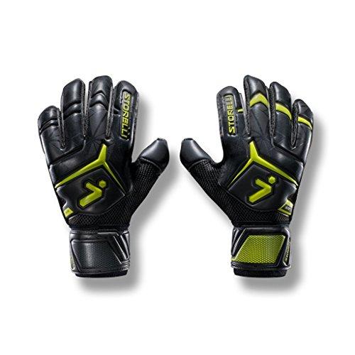 Storelli Guantes de Portero 2.0 Elite Gladiator Guantes de Portero de fútbol de Alto Rendimiento con férulas para los Dedos | Protección Premium para Dedos y Manos | Negro | Tamaño 7