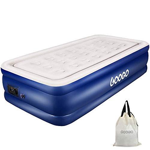 OUTON GOOGO Luftbett, Aufblasbare Matratze Single mit Elektrischer Pumpe 193 x 101 x 46 cm, Tragbare Luftmatratze mit Aufbewahrungstasche