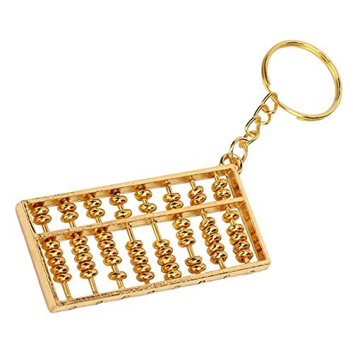Xndz Abacus Keyring, Exquisito Colgante de ábaco utilizable de Oro Mini Flexible para Llaves para Mochila