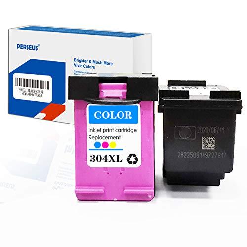 PERSEUS 304 XL Druckerpatronen Kompatibel für HP 304XL Schwarz + Farbe DeskJet 2620 2621 2630 2632 3720 3733 3750 3760 Envy 5010 5020 5032 5640 Drucker, Hoher Reichweite Tintenpatronen