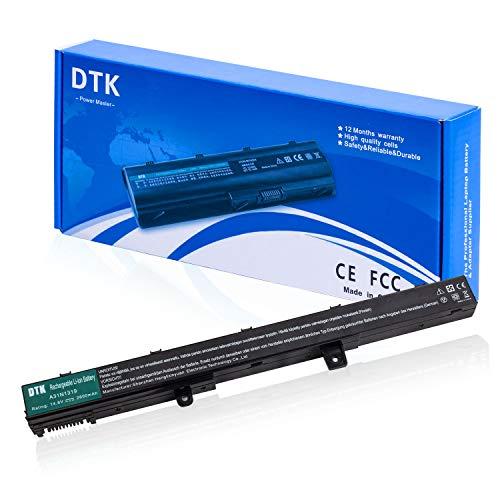 DTK A41N1308 A31N1319 Batería para ASUS X551 X551C X551M X551MA X451 X451MA A41 D550 F551 F551MA R512 P551CA, P N: A31LJ21 A31LJ91 0B110-00250600 Baterías portátiles y netbooks 14.8V 2600mAh