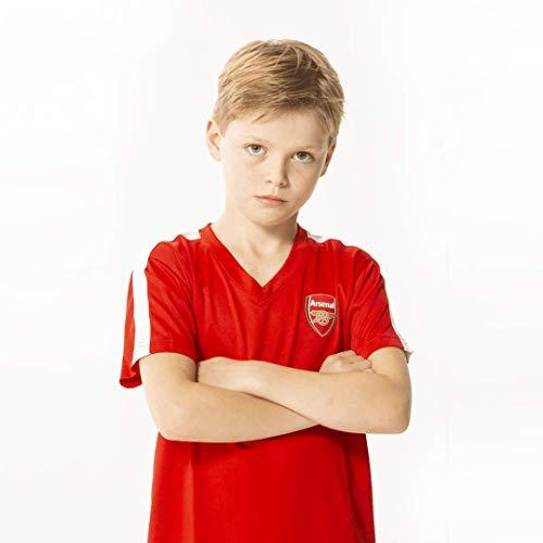 Morefootballs - Offizielles FC Arsenal London Heimspiel Trikot Set für Kinder | Saison 19/20 Größe 164 | Vollständiges Heim Tenue mit Trikot und kurzer Hose | 100 % Polyester Fußball Shirt und Shorts