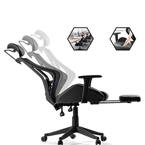 Chairs Schreibtischstühle Schreibtisch Computer Home Hocker Ergonomie Boss Office Taille Mittagessen Gaming Office Bequeme Bänke (Farbe :, Größe: 66 * 66 * 109Cm),Schwarz,66 * 66 * 109 cm