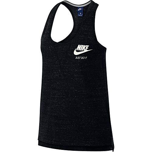 Nike Damen W NSW Gym VNTG Tank Top, Black/Sail, 2XL