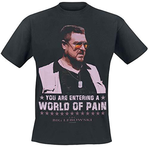 The Big Lebowski T-Shirt da Uomo World of Pain Walter Sobchak Cotton Black - M