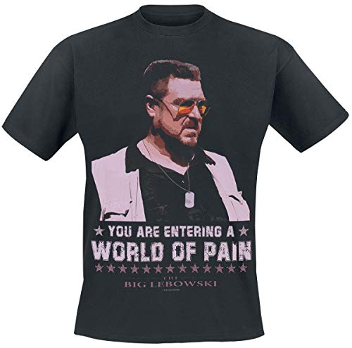 The Big Lebowski A World of Pain Männer T-Shirt schwarz M 100% Baumwolle Fan-Merch, Film