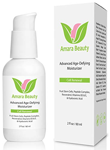Anti Aging Face Cream Facial Moisturizer with Fruit Stem Cells, Peptides, Hyaluronic Acid, Resveratrol and Vitamin B3 and E, 60 ml