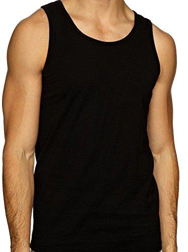 HDUK TM Mens Underwear Lot de 12 pour Homme 100% Coton d'été Poids Singlet débardeurs sous-vêtements/Mélange de Couleurs/Disponible en Tailles S/M/L/X
