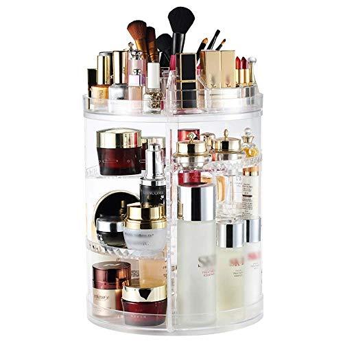Kosmetische Aufbewahrungsbox Transparent Lagerregal 360 Grad Desktop Schmuck Aufbewahrungsbox Schminktisch Hautpflegeprodukte Regal - Kosmetische Dekorative Aufbewahrungsbox