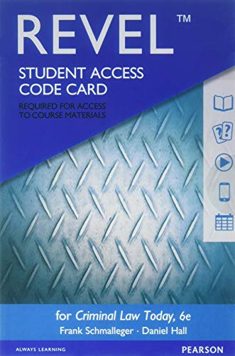 Revel for Criminal Law Today -- Access Card