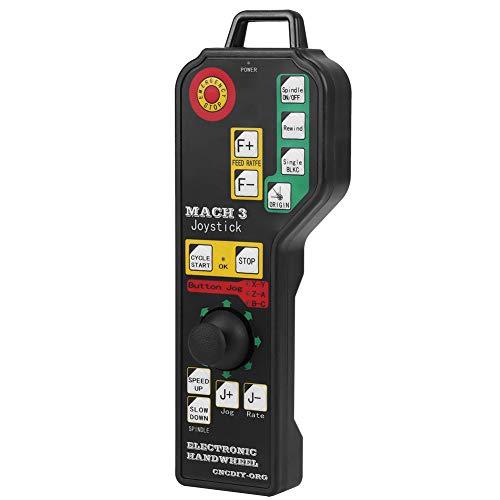 6 ejes USB Mach3 Controlador de volante Control remoto manual Volante CNC Generador de pulso manual con conector USB para fresadora de grabado de torno CNC