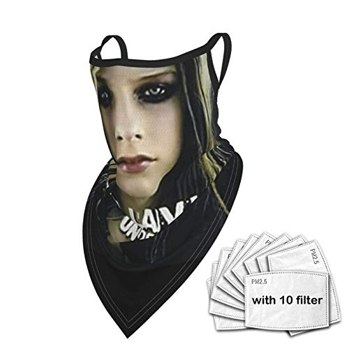 RongHao Avril Lavigne Under My Skin Balaclava Reusable Washable Neck Warmer Winter Dust Wind Gaiter Scarf Headgear Multiuse For Men Women As Pic One Size