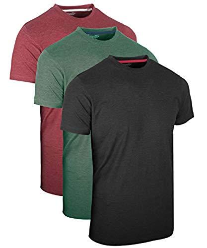FULL TIME SPORTS 3 Packs Long & Tall Tee Shirt Ch-Grm-Wm Combo # 3 - X-Large