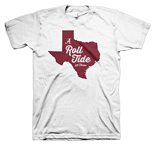 All Conference Apparel Roll Tide from Texas University of Alabama White T-Shirt (Short Sleeve, XL)