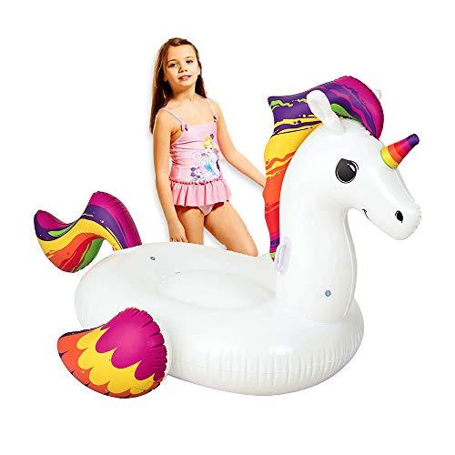 Flotador Gigante de Unicornio Blanco Infantil de PVC de 117x150 cm - LOLAhome
