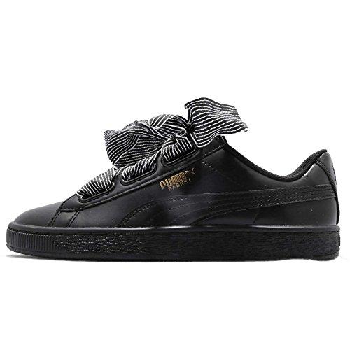 Puma Basket Heart Wn's, Zapatillas para Mujer, Negro Black Black, 36 EU