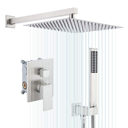 KES Shower System Shower Faucets Sets Complete 12 Inch Rain Shower Head with Handheld Spray Pressure Balance Shower...