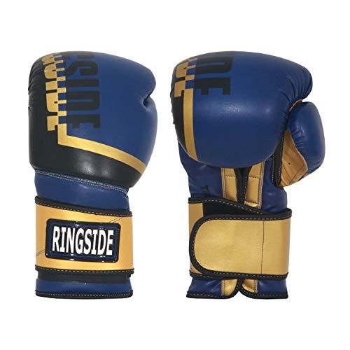 Ringside Bullet Sparring Gloves, Gold/Blue, 14 oz (RP3 GD/BL 14OZ)