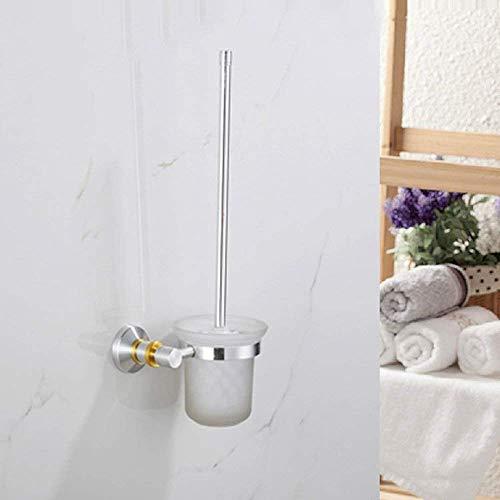 YSJ Continental Toiletborstelset van aluminiumlegering, voor huis en hotel, toiletborstelset voor badkamer