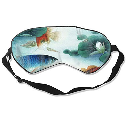 DJNGN Antifaz para dormir 100% seda Sleeping Eye Mask China Tiger Dragon Tai Chi Natural Silk Eye Mask Cover with Adjustable Strap
