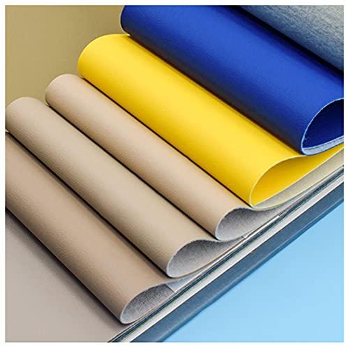 telas para tapizar sillas 6 Juegos De Telas De Cuero Artificial Tela Por Metro Multicolor Multi-tamaño Kit Práctico De Bricolaje Manual De Combinación De Colores Azul (Size:1.37M*1M,Color:Color 70#)
