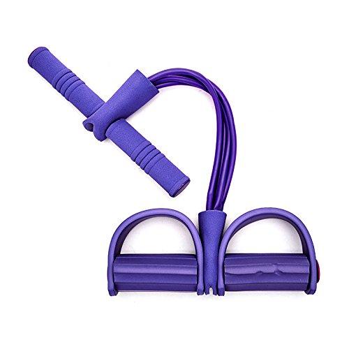 CHuangQi Multifunktions-Zugseil, Widerstandsbänder, 4-Rohr-Fußpedal-Zugseile Bodybuilding-Expander-Widerstands-Übungsbänder für das Fitnessstudio zu Hause