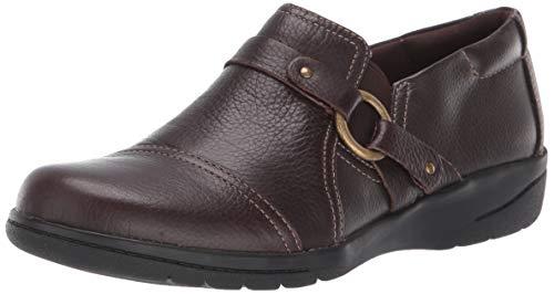 Clarks womens Cheyn Fame Pump, Dark Brown Leather, 9.5 Wide US