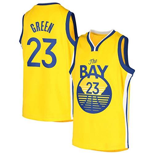 BPZ NBA Jersey, Draymond Green 23# Golden State Warriors Camisetas de Baloncesto para Hombre, Unisex Sin Mangas Bordado Swing T-Shirt Top,S (165~170CM / 50~65KG)
