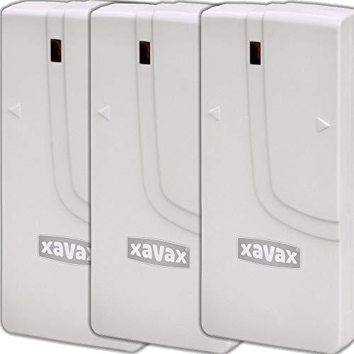 Xavax by Hama 3er Set 111979 Fenster/Türsensor für Funk-Alarm-System 'FeelSafe' zur Sicherung von Türen und Fenster, Magnetkontakte