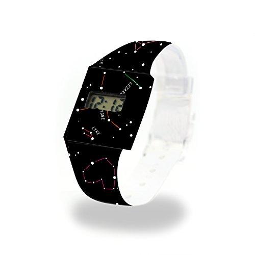 CONSTELLATION - Pappwatch - Paperwatch - Digitale Armbanduhr im trendigen Design - aus absolut reissfestem und wasserabweisenden Tyvek® - Made in Germany , absolut reißfest und wasserabweisend