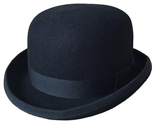 La vogue Sombrero de Jazz Hongo Fieltro Hombre Mujer Hat Vintage Negro M 56-58CM