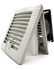 Ventilator, 120 mm x 120 mm x 38 mm, AC 220 V, geurverwijderaar, rook, warmte, vocht, voor badkamer, keuken, garage, kast, plafond- en wandventilator, stil, kogellagers