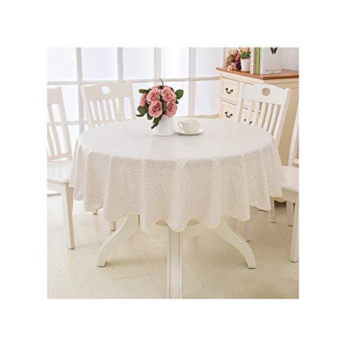 Lionel Philip Blumen Stil Runde Tischdecke Pastoralen PVC Kunststoff Küchentischdecke Ölbeständiges Dekoratives Elegantes Wasserdichtes Gewebe Tischdecke Color12 137Cm