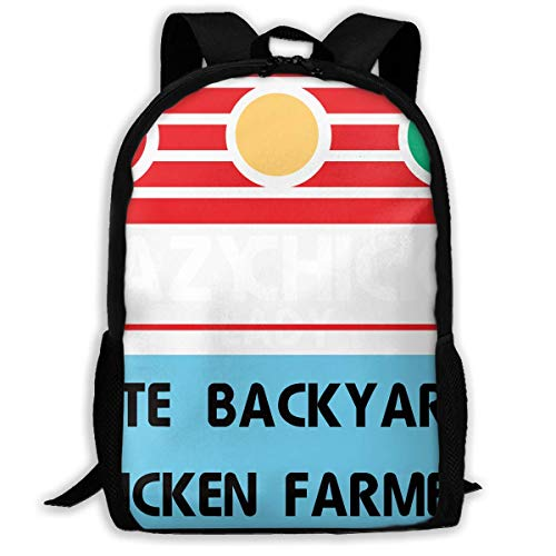 hengshiqi Rucksack Schultasche,Backpack, Travel Backpack Laptop Backpack Large Diaper Bag - Crazy Chicken Lady Cute Backyard Chicken Farmer Backpack School Backpack for Women & Men