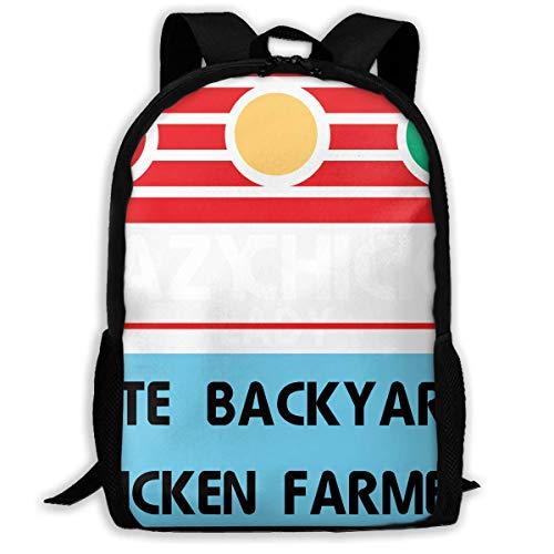 hengshiqi Rucksack Schultasche,Backpack, Travel Backpack Laptop Backpack Large Diaper Bag - Crazy Chicken Lady Cute Backyard Chicken Farmer Backpack School Backpack for Women & Men