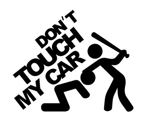 2 STUKS 17.5x15cm Raak mijn auto niet aan kleurrijke auto stickers auto sticker auto stickers