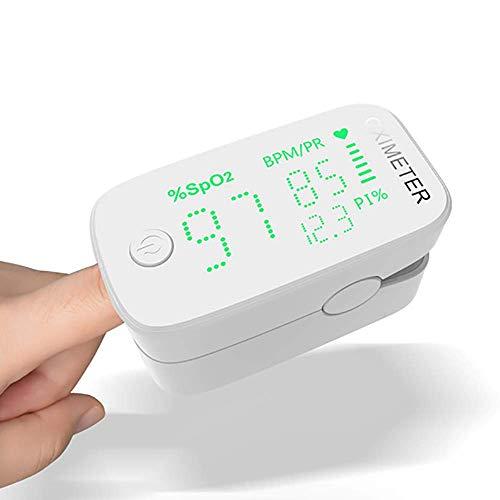 Zks Pulsoximeter, Digitalanzeige Finger-Pulsoximeter Sauerstoff Und Pulssensor Messgerät Mit Alarm / SPO2 Automatische Abschaltung Und Schnelles Lesen Für Kinder Erwachsene,Grün