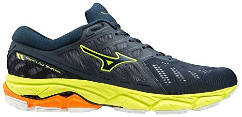 Mizuno Wave Ultima 11, Scarpe da Corsa Unisex-Adulto, Dress Blues/Dres Blues/Safety Yellow, 42 EU