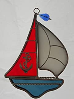Sailboat Stained Glass Suncatcher