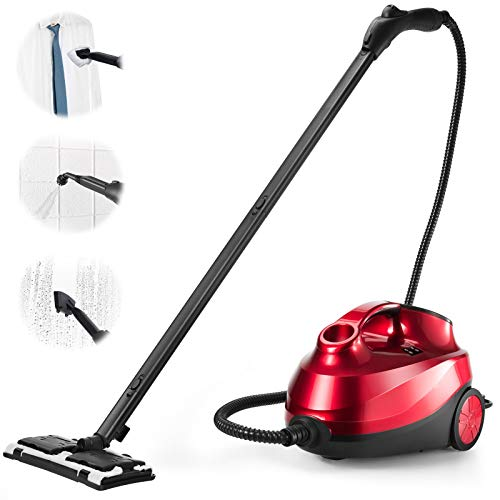 ARLIME Steam Cleaner with 19 Accessories, 2000W Multipurpose Heavy Duty Household Steamer with 1.5L Tank & Extra-Long Power Cord, Chemical-Free Cleaning for Carpet, Cars, Floors, Home use and More