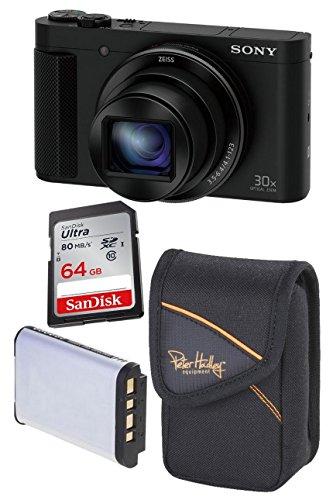 Sony DSC-HX90V + SanDisk 64 GB Ultra SDXC + 2. Akku + Tasche
