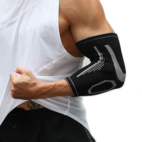 Ellenbogenbandage, 1 Paar Ellenbogen Bandage Für Frauen Männer, Sport Armbandage zur Stützung der Ellenbogen beim Volleyball, Fitness Bandage zur Entlastung bei Tennisarm, Links und rechts M/L/XL