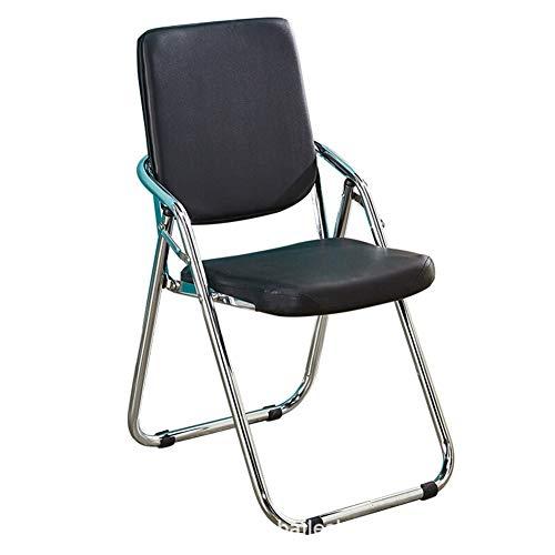 Silla de oficina silla plegable silla de comedor c Se adapta Presidente de la Conferencia silla de estilo retro transpirable con respaldo plegable del ordenador creativa multifuncional for Oficina Est