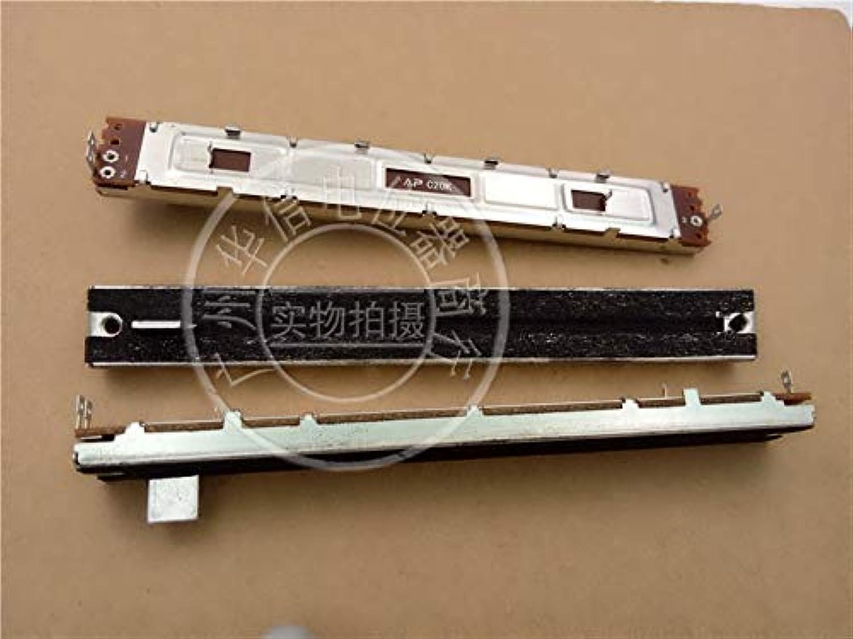 3pcs SC1009NQ 128MM Mixer Straight Slide Potentiometer C20K   Mono Fader Handle Length 8MMB Hole
