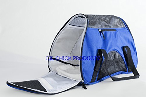 LIL Chick Products (TM) Royal Blue Soft Sided Pet Carrier,