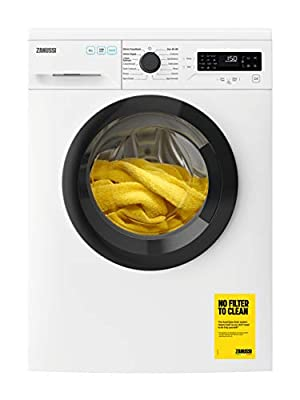 Zanussi ZWF845B4DG Freestanding Washing Machine, CleanBoost, Quick wash, 15 Programs, 8kg Load, 1400rpm Spin, Quiet Inverter Motor, Width 64cm, White
